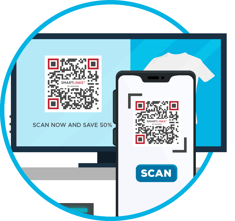 Deep links for QR codes on television