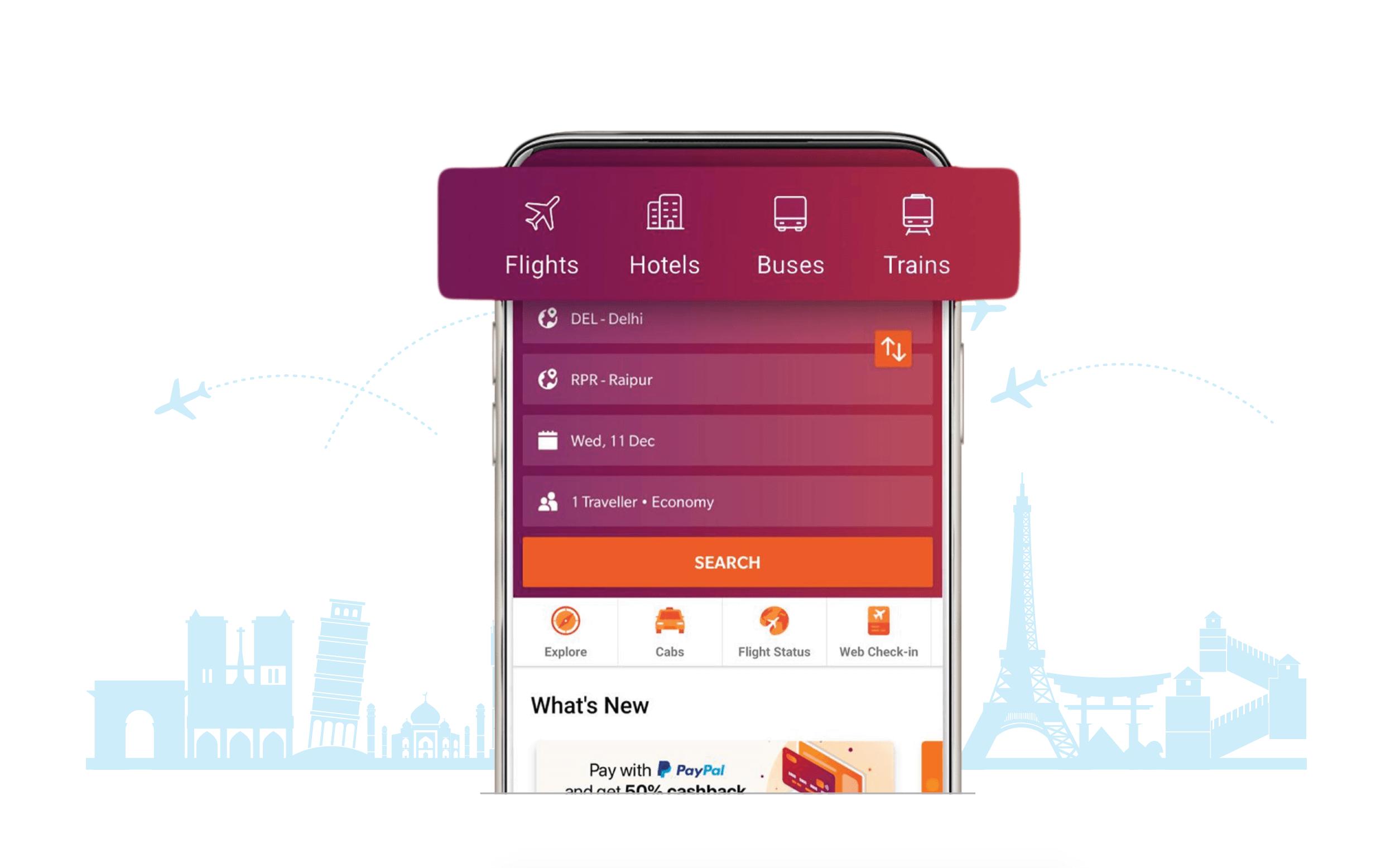 Ixigo app travel booking platfrom