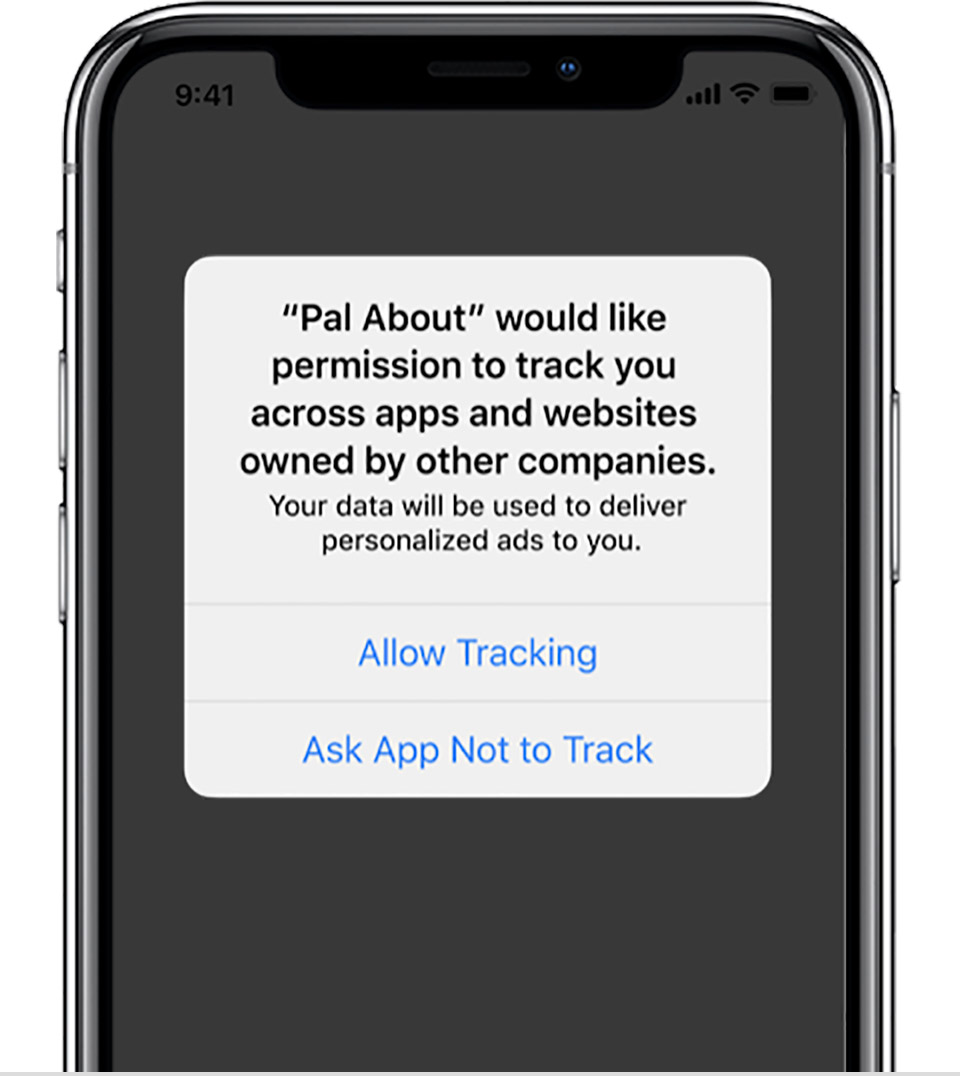 Apple's AppTrackingTransparency consent prompt