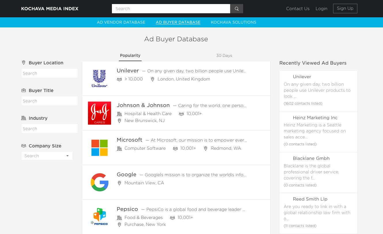 ad buyer database