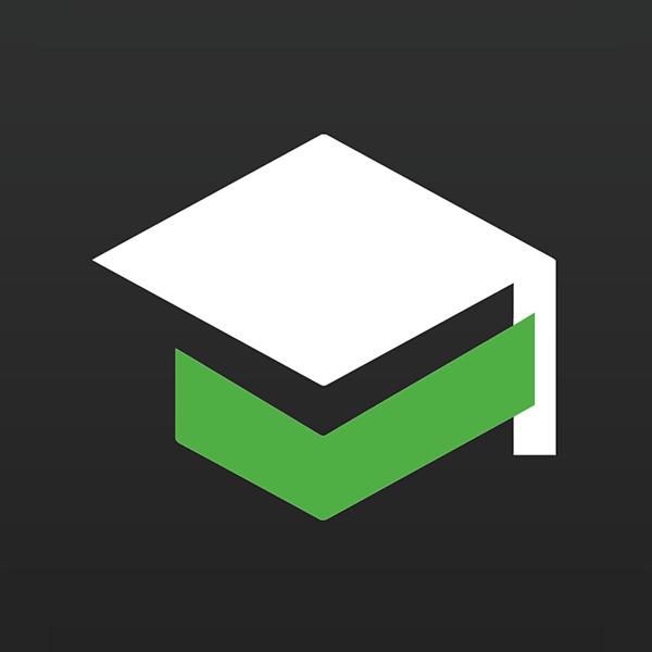 Black and green B4Grad logo