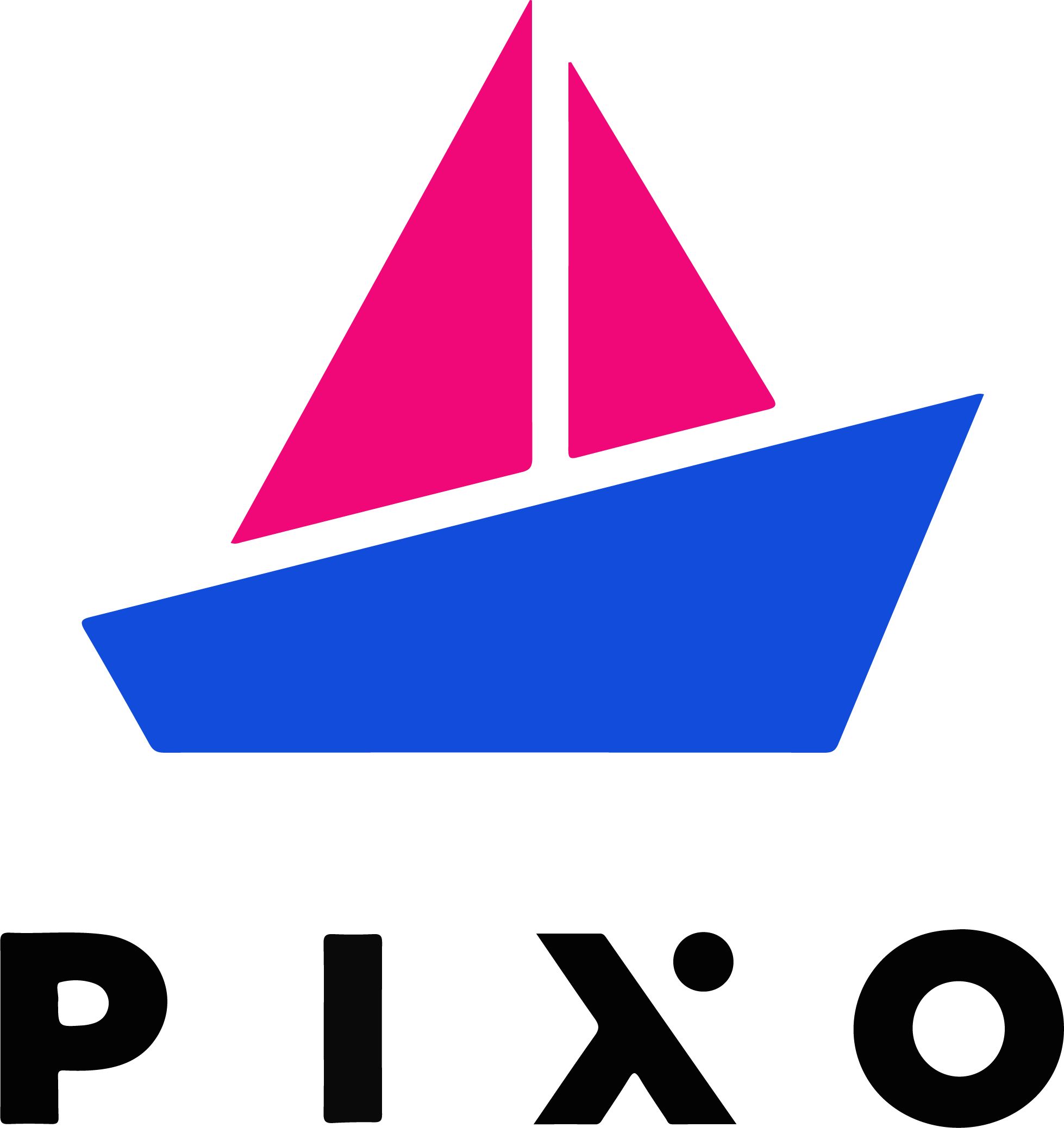 Pink and blue Pixo logo