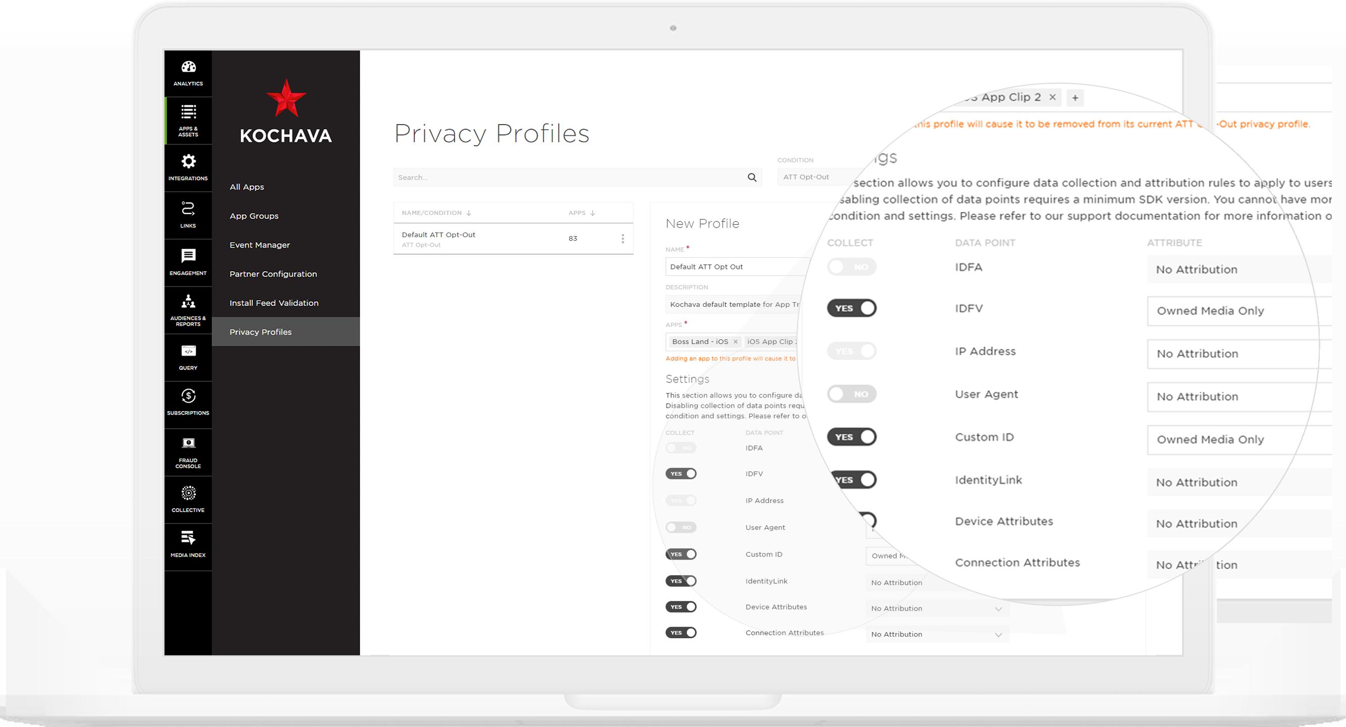 privacy profiles