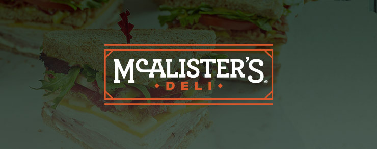 McAlister's Deli Logo with a sandwich