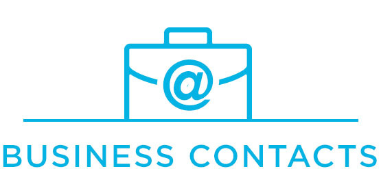 Briefcase icon for for business contacts